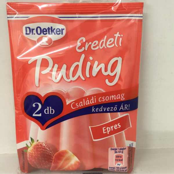 Epres Pudingpor 2db Dr. Oetker – Puding powder strawberry