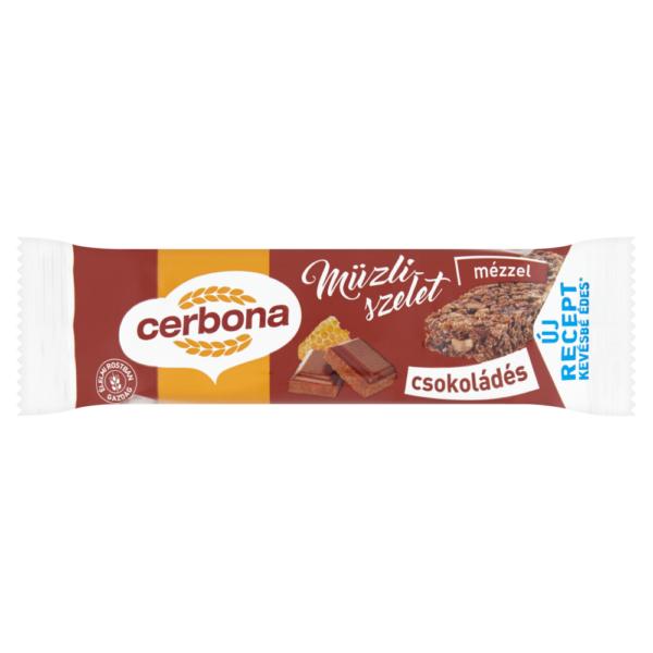 Cerbona műzli szelet csokis 20g – Muesli bar with chocolate