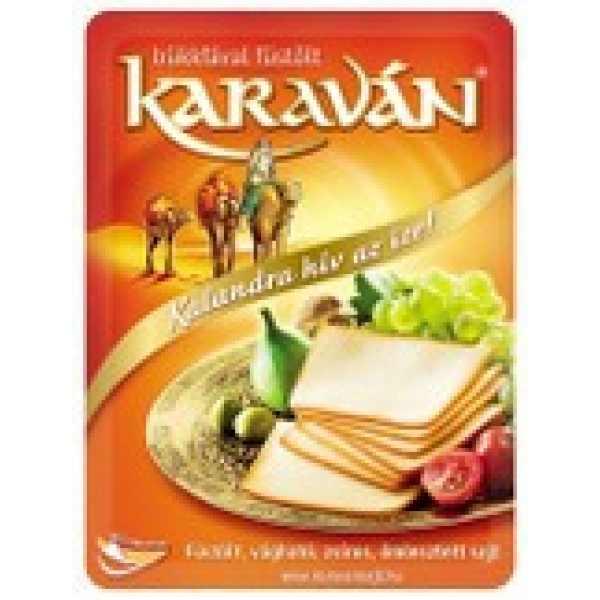 Karaván sajt szeletelt 125g – Smoked cheese slices