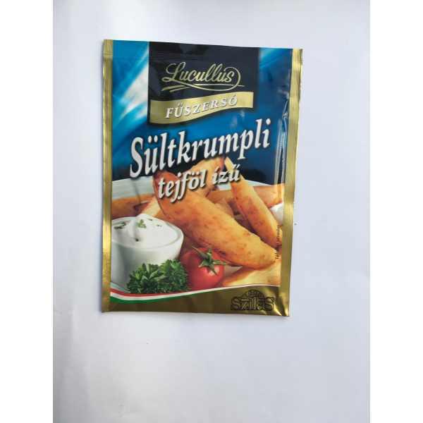 Sültkrumpli fűszersó tejföl ízű 25g Lucullus – Chips spice cream flavour