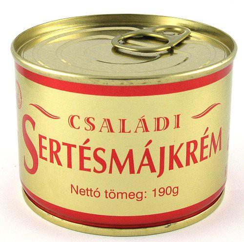 Sertésmájkrém családi 190g – Pork liver pate