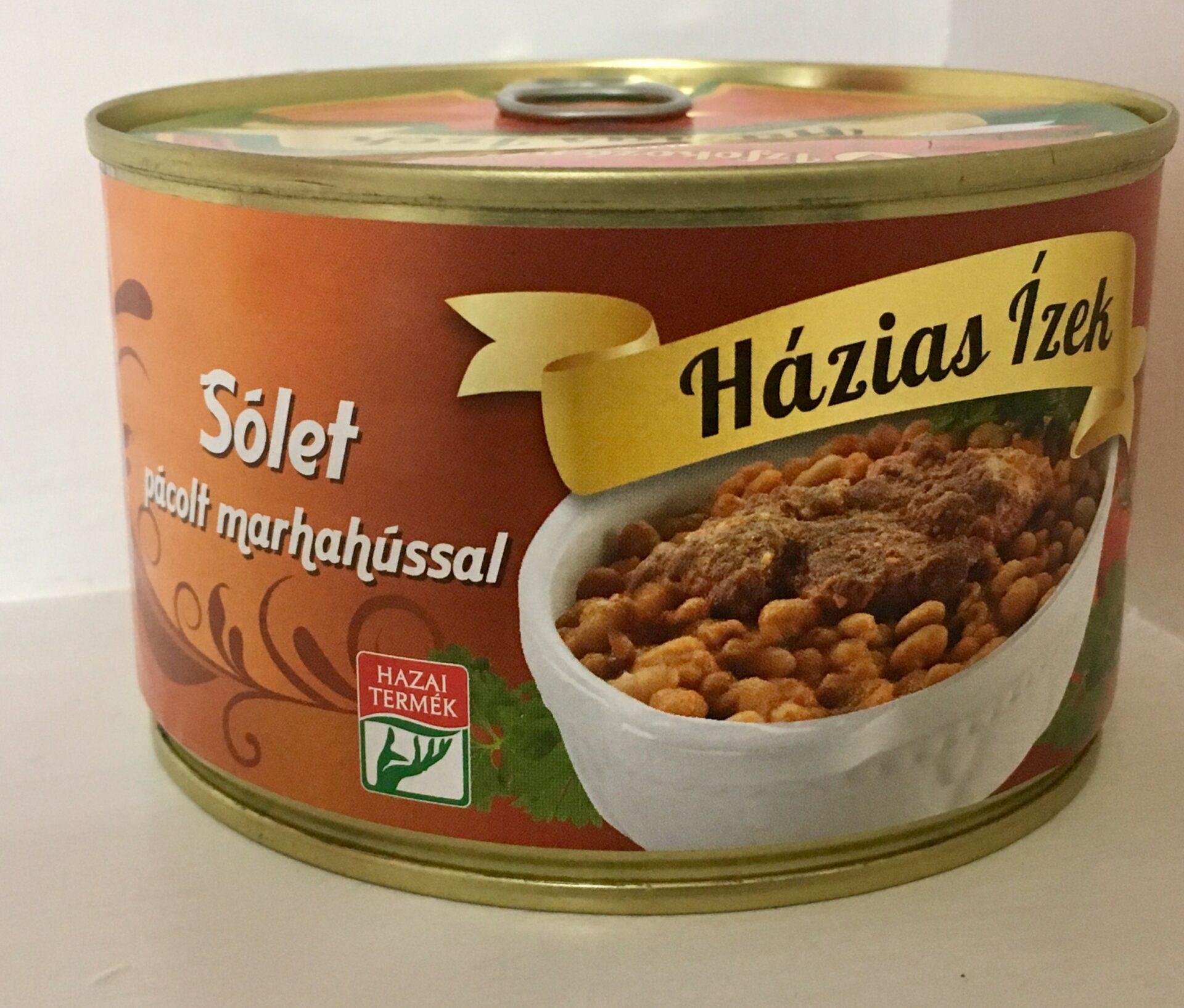 Sólet pácolt marhahússal konzerv 400g Házias Izek – Solet ready meal