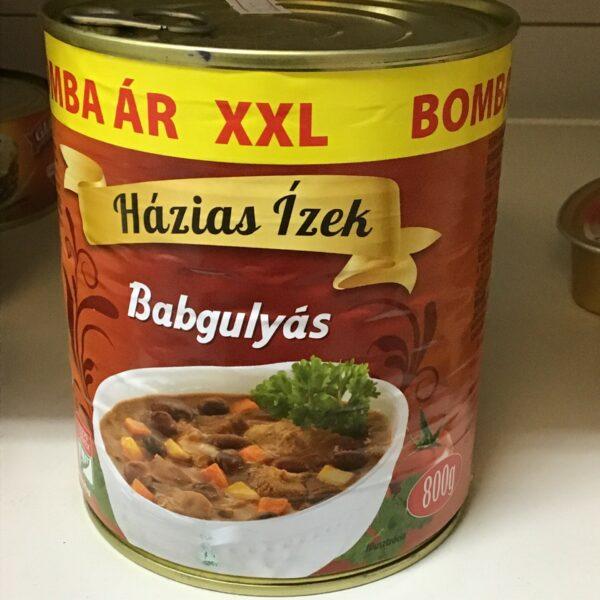 Babgulyás 800gr – Bean goulash in tin