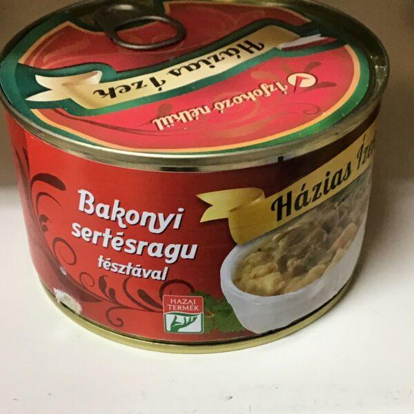 Bakonyi Sertésragu – Pork casserole in tin