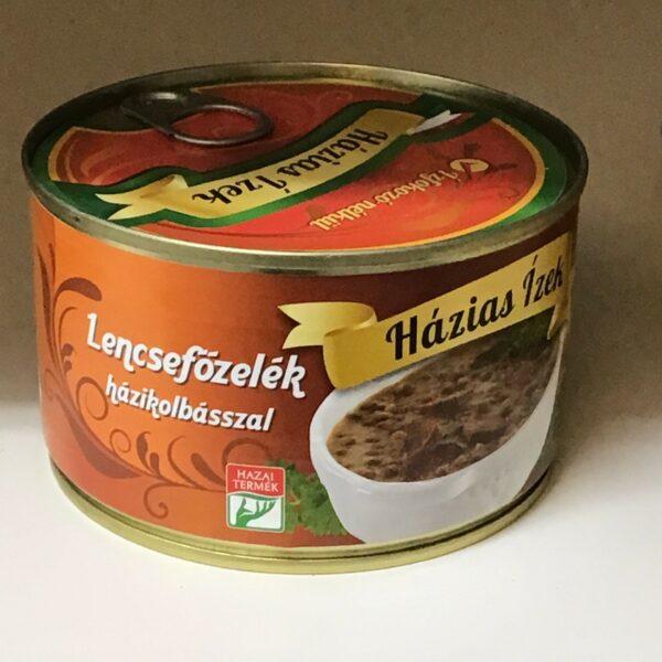 Lencsefözelék házikolbásszal konzerv – Lentil sauce with sausage