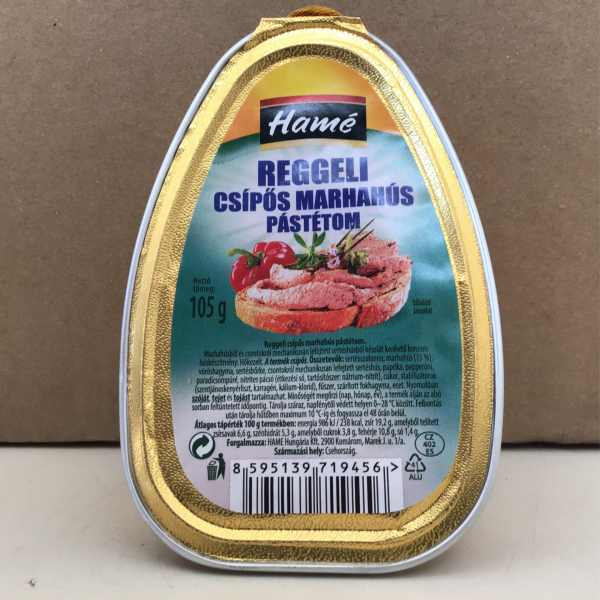 Reggeli Csipös Marhahús Pástétom Hame – Beef pate hot