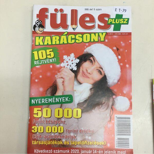 Füles Plusz Karácsony / Crossword magazine