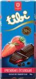 Tibi Eperkrémes Étcsokoládé 100g / Dark chocholate with strawberry cream