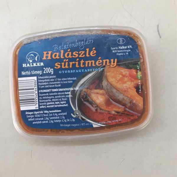 Halászlé Süritmény (fagyasztott) – Fishsoup concentrate