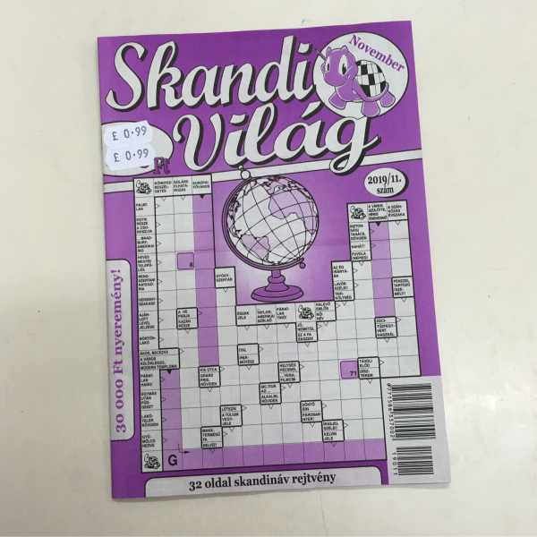 Skandi Világ / Hungarian crossword