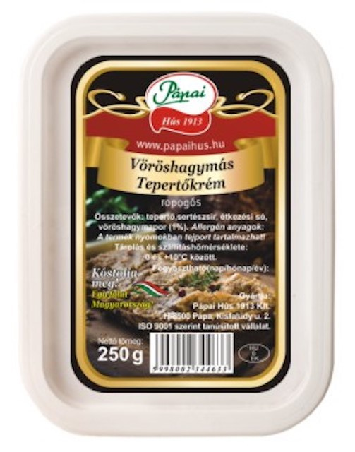 Pápai Tepertökrém Vöröshagymás 250g – Pork scratching cream