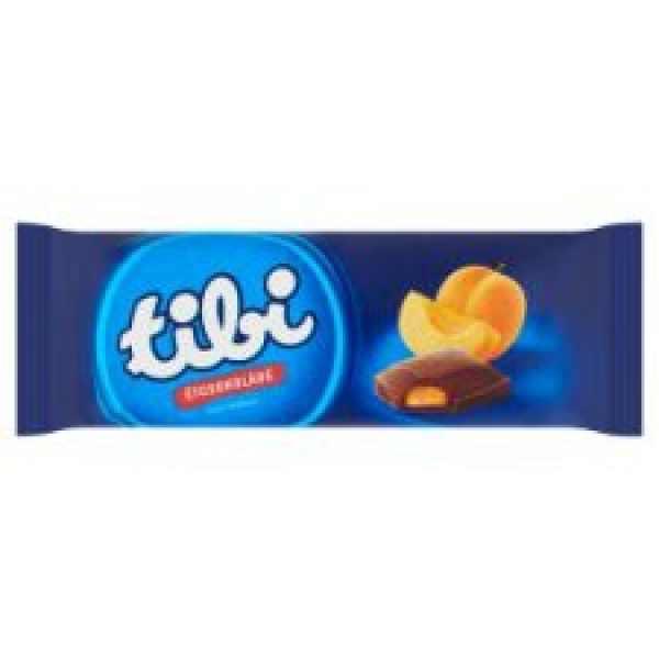 Tibi Ét Kajszikrémes 100g / Dark chocholate with Apricot cream