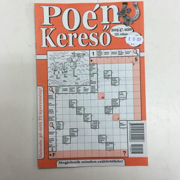 Poénkeresö / Hungarian crosswords