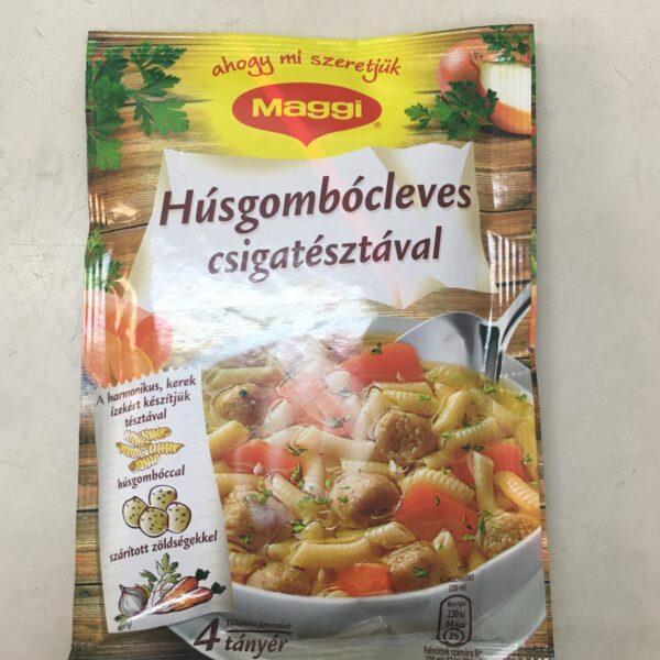 Húsgombócleves Csigatésztával Maggi – Soup sachet with Meatball