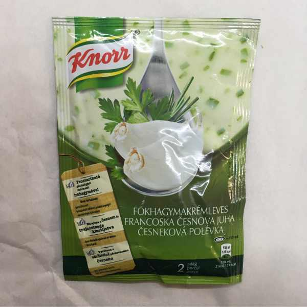 Fokhagymakrémleves Knorr 55g – Garlic cream soup