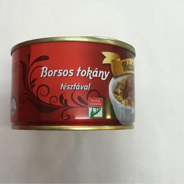Borsos Tokány Házias Izek – Pork Cassarole Peppery in tin