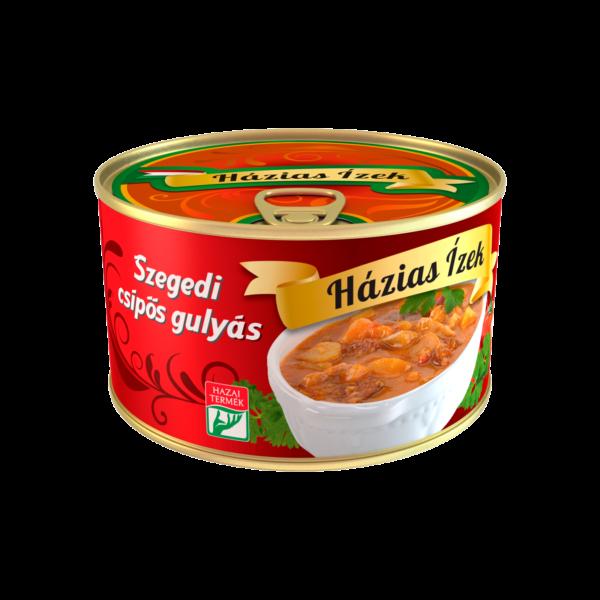Szegedi csipős gulyás konzerv 400g – Hot Szeged Goulash soup