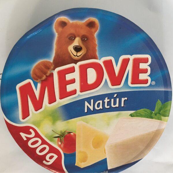 Medve Kockasajt 200g Natur – Cheese triangle original