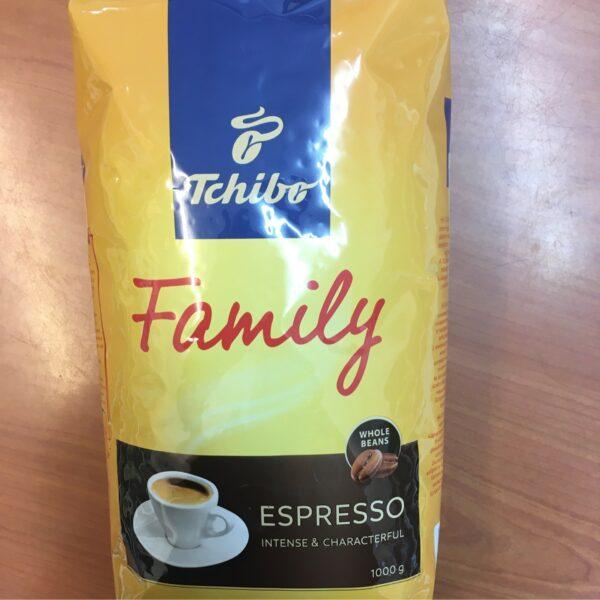 Tchibo Family Espresso Kávébab 1kg / Coffee beans