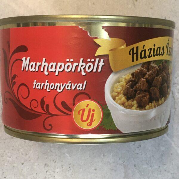 Marhapörkölt Tarhonyával 400g – Beefstew with pasta