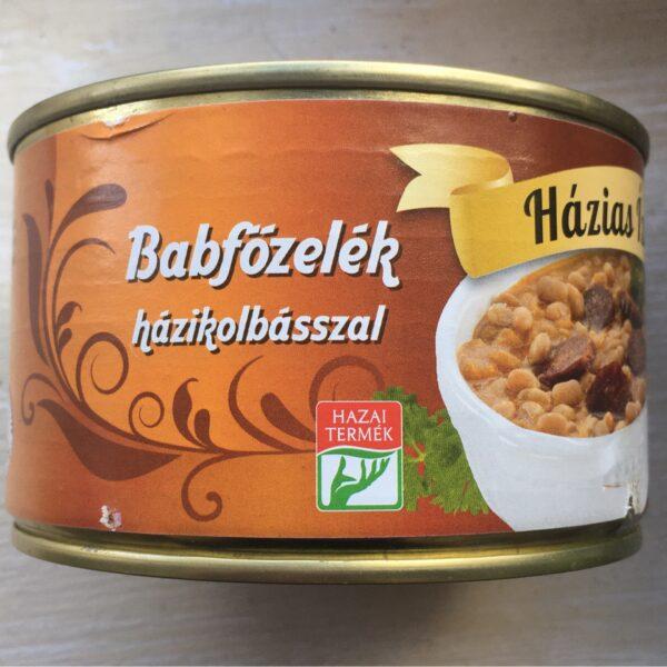 Babfözelék házikolbásszal Házias Izek – Bean sauce in tin