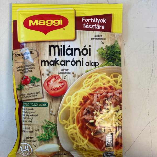 Milanoi makaroni alap Maggi – Maccaroni base