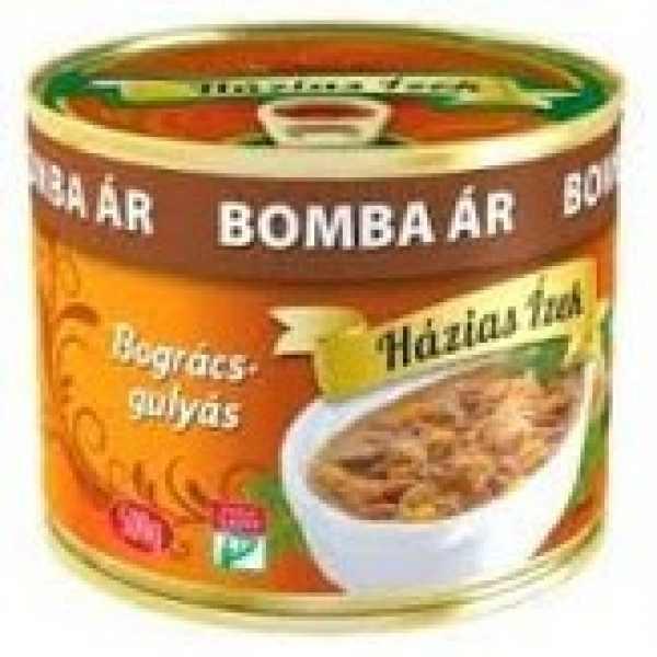 Házias ízek Bográcsgulyás Bomba ar 500gr – Goulash soup in tin