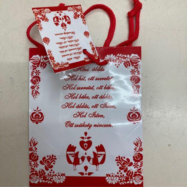 Ajándéktasak kis méret Házi áldással – Gift bag