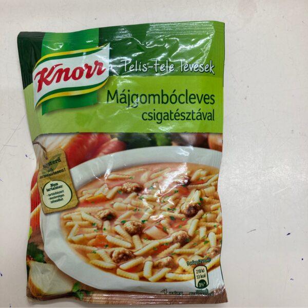 Májgombócleves csigatésztával Knorr – Liverball soup sachet