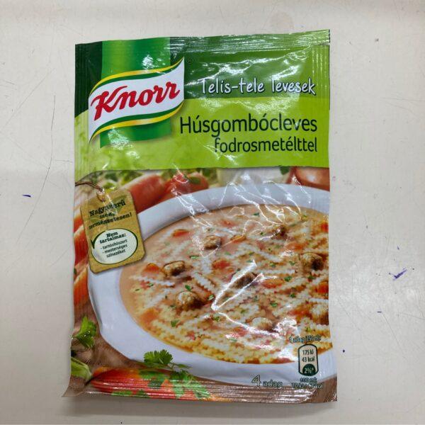 Húsgombócleves fodrosmetéltel Knorr – Meatball soup sachet