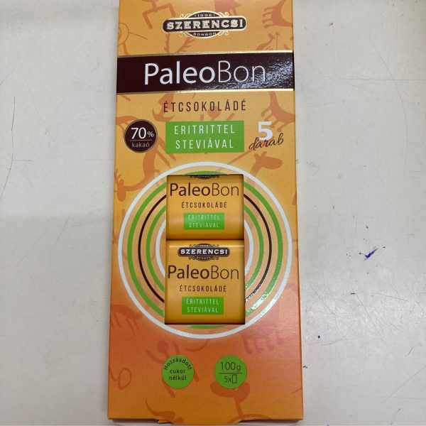 PaleoBon Étcsokoládé 5x20g – Dark chocholate with sweetener