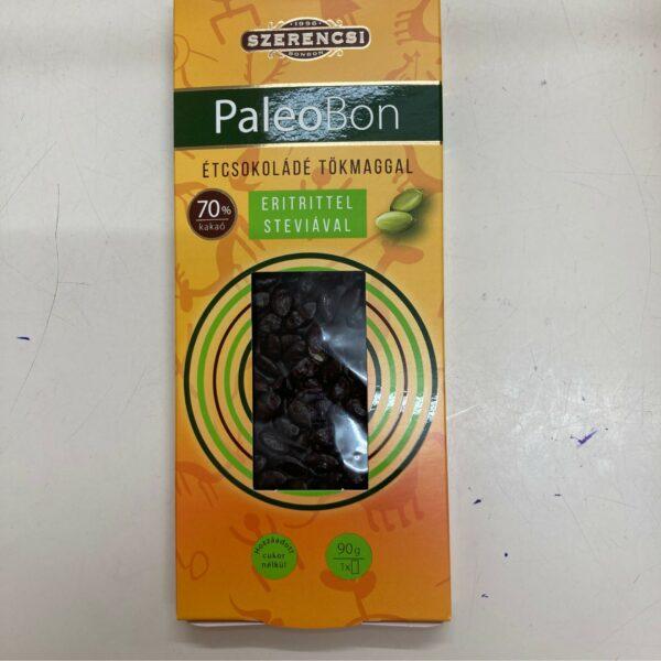 PaleoBon étcsokoládé tökmaggal – Dark chocholate enriched with pumkinseeds