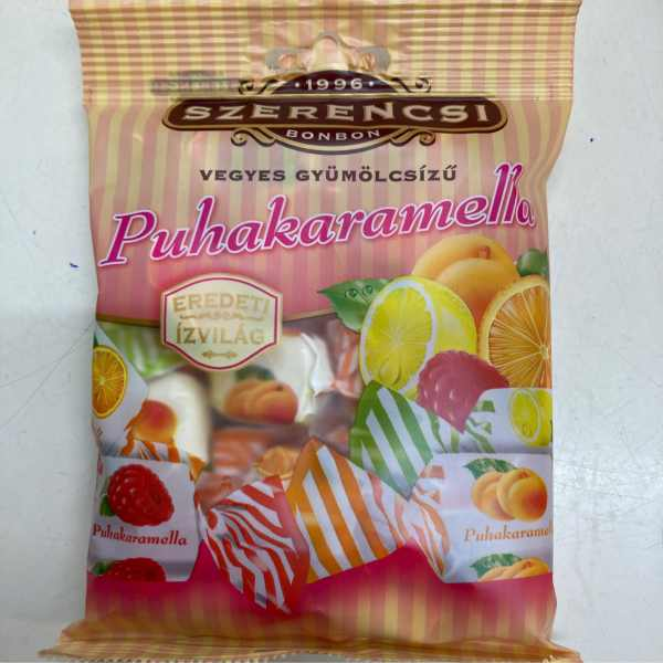 Puhakaramella gyümölcs Frutti