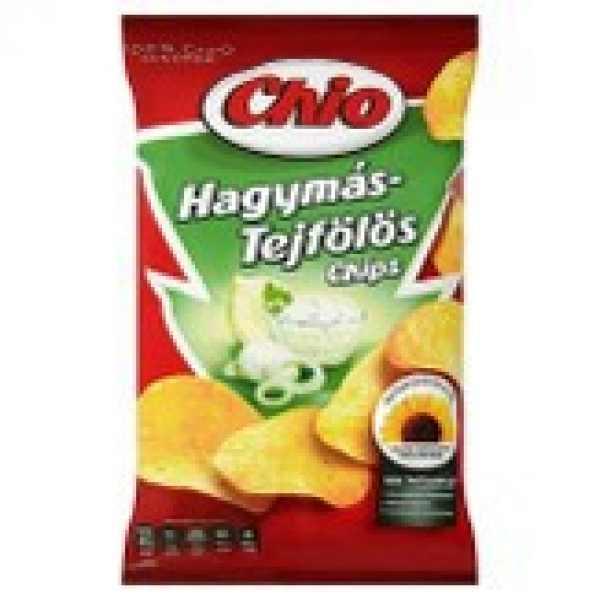 Chio hagymás-tejfölös burgonyachips 75gr crisp /
