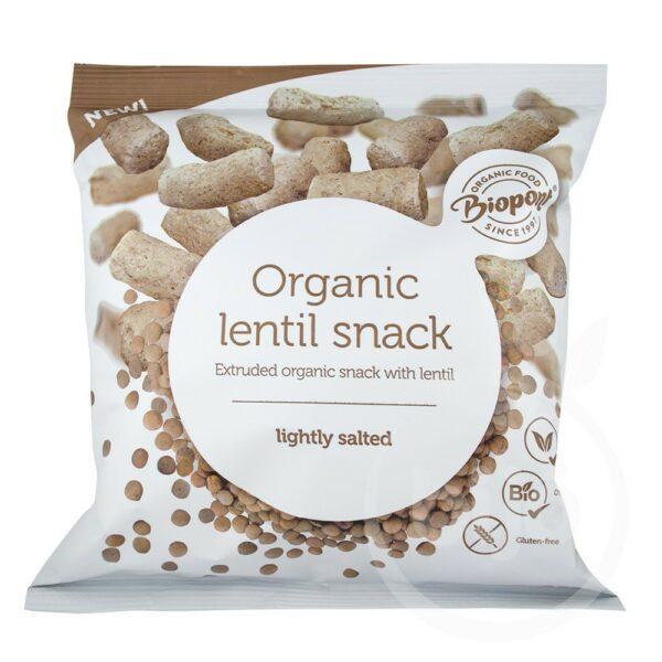 Extrudalt bio lencse sós 60g – Organic lentil snack