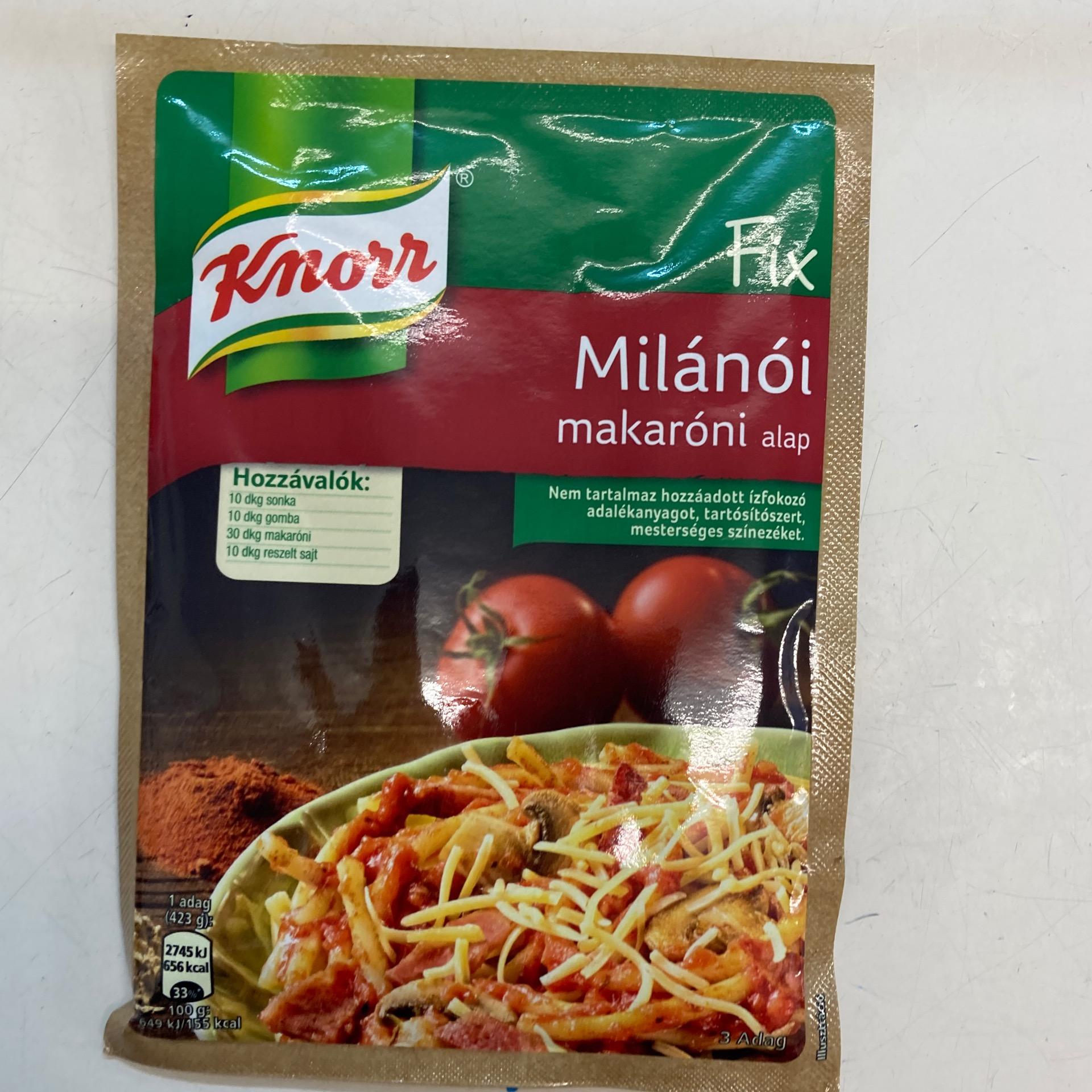 Milánói makaróni alap Knorr Fix